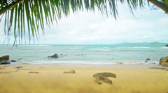 Tropical beach without people Stock Footage
