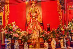 Chinese gods man mo temple  hong kong Stock Photos