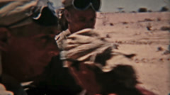 Aden Protectorate convoy to Atag vintage 8mm film HD 0127 Stock Footage