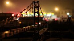 Super cool model of Golden Gate Bridge near gift shop Stock Footage