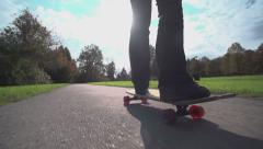 SLOW MOTION: female long boarding - stock footage