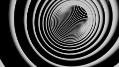 Slowspeed rings tunnel Stock Footage