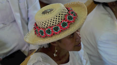 Cook Islands people pray at CICC church Stock Footage