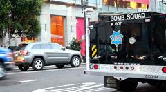 San Francisco Bomb Squad viehicle - stock footage