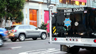 Stock Video Footage of San Francisco Bomb Squad viehicle