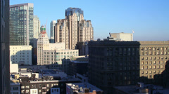San Francisco skyline from Hilton vantage point - stock footage
