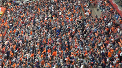 Crowds, Fans, Spectators, Audience, People - stock footage