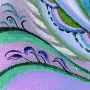 Picture, pastel, abstract Stock Illustration