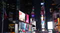 Times Square New York City Illuminated Night Ads Billboard Neon LCD Advertising  HD Footage