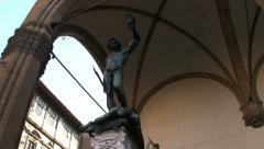 Statue of Perseo and Medusa 01 Stock Footage