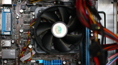 Computer fan working Stock Footage