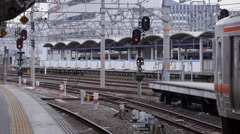 Local Train Departs Nagoya Station for Kameyama Stock Footage