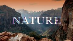 Nature Logo (HD) Stock Footage