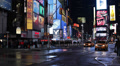 Illuminated Night Times Square New York City Yellow Cabs Car Traffic Manhattan HD Footage