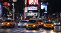 New York City Evening Night Times Square Driving Car Traffic Taxi Busy Street NY Footage