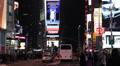 Rush Hour Busy Street Times Square New York City Illuminated Night Manhattan Car Footage