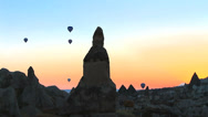 Stock Video Footage of Balloons ascending at cappadocia