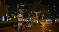 Dubai, uae - september 8: the bike rental station in dubai marina of nextbike Stock Footage