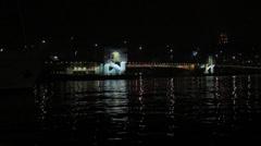 Galata bridge and tower - stock footage