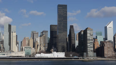 New York City Midtown Cityscape Citigroup Building Trump Residential Busy Crowd Stock Footage