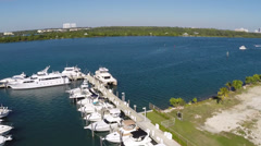 Haulover Marina and Golf Course Stock Footage