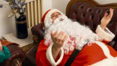 Santa Claus in therapy feeling bad Stock Footage