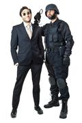swat vs business - stock photo