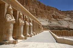 mortuary temple of hatshepsut, near the valley of the kings, in luxor, egypt. - stock photo