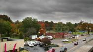 Stock Video Footage of Ominous time lapsed storm clouds with real time traffic