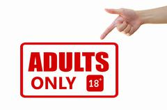 Adult only signage - stock illustration