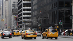 Commuter Commuting New York City Big Apple Busy Street Rush Hour Daylight Day US Stock Footage