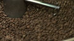Roasting machine, coffee roaster, centrifugal roaster, roasting coffee beans - stock footage