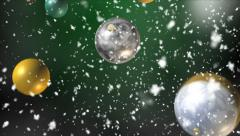 Christmas Balls - falling, seamless loop - stock footage