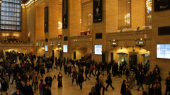 Travellers Movement Passing Walking New York City Grand Central Station Terminal Stock Footage
