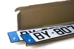 automobile registration - stock photo