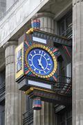 Art deco clock Stock Photos