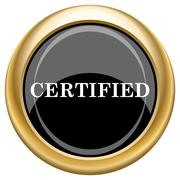 certified icon - stock illustration
