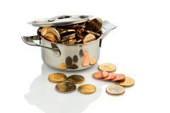Money wuro coins Stock Photos