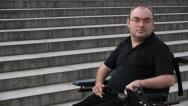Stock Video Footage of facing obstacles paralyzed man portrait