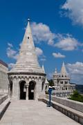Hungary, budapest, fisherman's bastion. Stock Photos