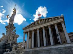Austria, vienna, parliament Stock Photos