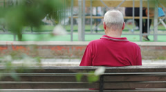 Elderly man's abandoned by his family Stock Footage
