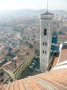 Aerial view of florence from brunelleschi campanile, italy Stock Photos
