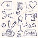Stock Illustration of sewing accessories