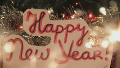 Happy New Year - Dolly shot, Closeup - stock footage