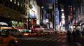 Junction Times Square Illuminated Night New York City Crosswalk Business Crowds Footage