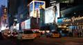Illuminated Night Landmark Iconic Famous Times Square New York City Famous Place Footage