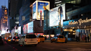 Stock Video Footage of Illuminated Night Landmark Iconic Famous Times Square New York City Famous Place