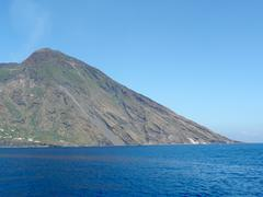 Stromboli, active volcano which is part of the aeolian islands archipelago Stock Photos