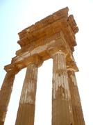 temple of castor and pollux, agrigento, italy - stock photo